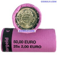 "Germany 2012 roll 2 euro ""10 years of the Euro"" F mint (x25 coins)"