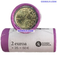 Finland 2015 roll 2 Euro - Jean Sibelius (X25 coins)