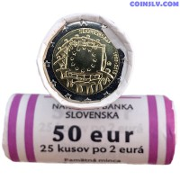 "Slovakia 2015 roll 2 Euro ""The 30th anniversary of the EU flag"" (X25 coins)"