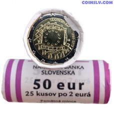 "Slovakia 2015 roll 2 Euro ""The 30th anniversary of the EU flag"" (X25 coins)"