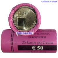 Slovenia 2019 roll 2 Euro - The 100th anniversary of the foundation of the University of Ljubljana (x25 coins)