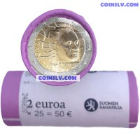 Finland 2 Euro roll 2020 - 100th anniversary of the birth of Väinö Linna (X25 coins)