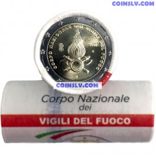 Italy 2 Euro roll 2020 - National Fire Department (X25 coins)