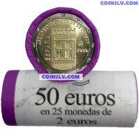 Spain 2 Euro roll 2020 - Aragón and the Aragonese Mudejar architecture (x25 coins)