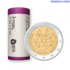 Finland 2 Euro roll 2021 - Journalism and Open Communication Supporting the Finnish Democracy  (X25 coins)