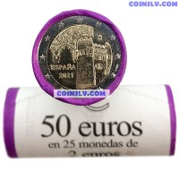 "Spain 2 Euro roll 2021 ""Toledo"" (x25 coins)"