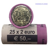 Luxembourg 2 euro roll 2018 - The 175th anniversary of the death of the Grand Duke Guillaume Ist
