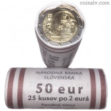 "Slovakia 2 euro roll 2018 ""The 25th anniversary of the Slovak Republic"" (X25 coins)"
