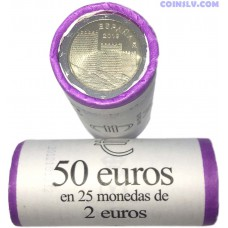 Spain 2 Euro roll 2019 - The old town of Avila and its churches outside the walls (X25 coins)