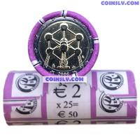 """Belgium 2 Euro roll 2006 """"Atomium"""" (X25 coins)"""