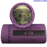 Slovenia 2 Euro roll 2007 - 50th anniversary of the signing of the Treaty of Rome (X25 coins)