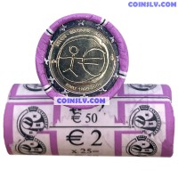 "Belgium 2 Euro roll 2009 ""10 years of economic and monetary union (EMU)"" (X25 coins)"
