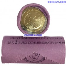 "Cyprus 2 euro roll 2009 ""10 years of economic and monetary union (EMU)"" (X25 coins)"