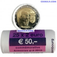 Luxembourg 2 euro roll 2010 - Coat of Arms of the Grand Duke (x25 coins)