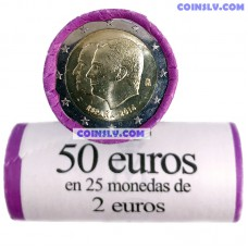 Spain 2 Euro roll 2014 - Change of the Head of State (x25 coins)