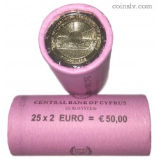 "Cyprus 2 euro roll 2017 ""Paphos 2017 – European Capital of Culture"" (X25 coins)"