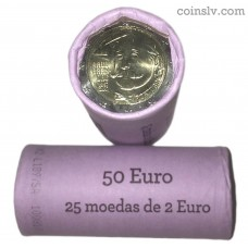 "Portugal 2 euro roll 2017 ""150 years of the birth of writer Raul Brandão"" (X25 coins)"