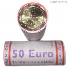 "Austria 2 euro roll 2018 ""100 years of the Austrian Republic"" (X25 coins)"