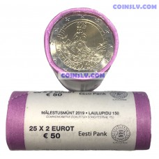Estonia 2 euro roll 2019 - 150th anniversary of the Estonian song festival (X25 coins)