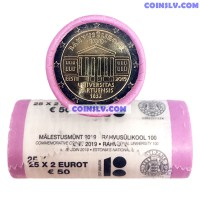 Estonia 2 Euro roll 2019 - 100th anniversary of the University of Tartu (X25 coins)
