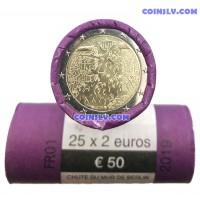 France 2 Euro roll (x25 coins) 2019 - 30 years of the fall of the Berlin Wall