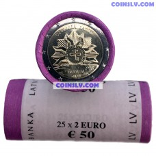 Latvia 2 Euro roll 2019 - The Rising Sun (x25 coins)