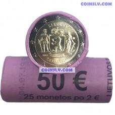 Lithuania 2 euro roll (x25 coins) 2019 - Žemaitija region (Samogitia)