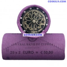 Cyprus 2 Euro roll 2020 - The 30th anniversary of the Cyprus Institute of Neurology and genetics (X25 coins)
