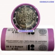 Estonia 2 Euro roll 2020 - 100 years of the Tartu Peace Treaty (x25 coins)