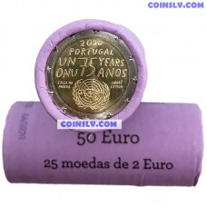 Portugal 2 Euro roll 2020 - 75th anniversary of the United Nations (X25 coins)