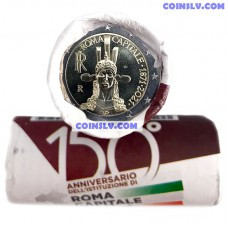 Italy 2 Euro roll 2021 -150th Anniversary of the institution of Rome Capital of Italy (X25 coins) *Special Packing