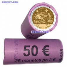 Lithuania 2 Euro roll (x25 coins) 2021 - Žuvintas Biosphere Reserve