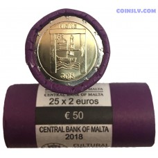 Malta 2 Euro roll 2018 - Cultural Heritage (X25 coins)