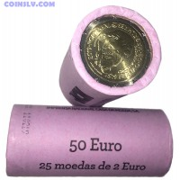 "Portugal 2 euro roll 2019 ""500 Years of Magellan's circumnavigation"" (X25 coins)"