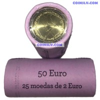 """Portugal 2 euro roll 2019 """"600th anniversary of the discovery of Madeira Island"""" (X25 coins)"""