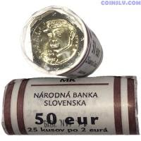 "Slovakia 2 euro roll 2019 ""100th anniversary of the death of Milan Rastislav Štefánik"" (X25 coins)"