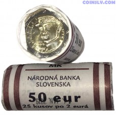 "Slovakia 2 euro roll 2019 ""100th anniversary of the death of Milan Rastislav Štefánik"" (X25 coins)"