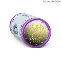 Latvia 2 Euro roll 2021 - Latvia's de iure 100 (X25 coins)