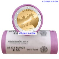 *PRESALE OFFER!* Estonia 2 Euro roll 2021 - The Estonian national animal – the wolf (x25 coins)