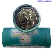Italy 2 Euro roll 2021 - Healthcare professionals (X25 coins) *Special Edition
