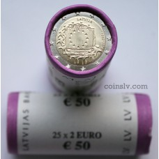 "Latvia 2015 roll 2 euro ""The 30th anniversary of the EU flag"" (X25 coins)"