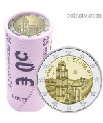 "Lithuania 2 euro roll 2017  ""Vilnius — capital of culture and art"" (X25 coins)"