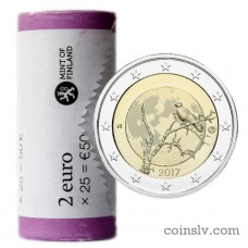 "Finland 2 euro roll 2017 ""The Finnish nature"" (X25 coins)"