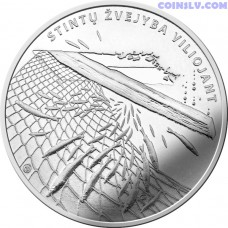Lithuania 1.5 Euro 2019 - Smelt fishing by attracting (from the series ''Lithuanian nature'')