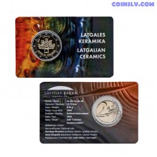 Coincard 2 Euro BU Latvia 2020 - Latgalian Ceramics