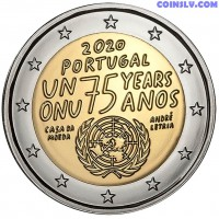 2 Euro Portugal 2020 - 75th anniversary of the United Nations