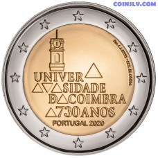 2 Euro Portugal 2020 - The 730th anniversary of the foundation of the University of Coimbra