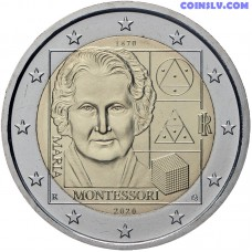 2 Euro Italy 2020 - 150th anniversary of the birth of Maria Montessori