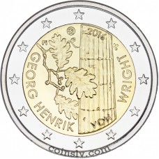 "2 Euro Finland 2016 ""The 100th anniversary of the birth of philosopher Georg Henrik von Wright"""
