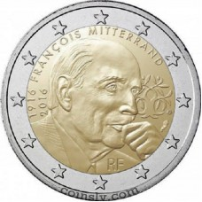 "2 euro France 2016 ""François Mitterrand"""